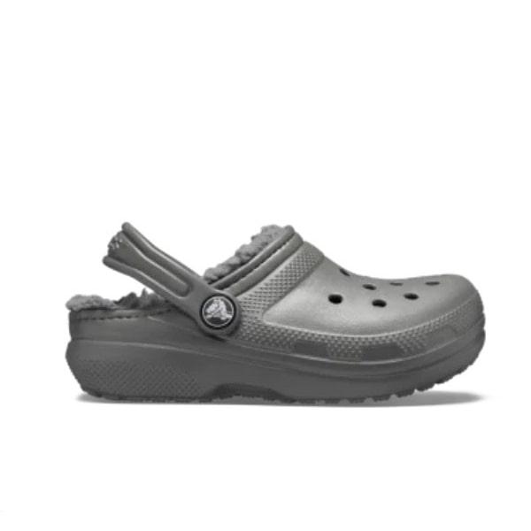Charcoal Fur Lined Crocs
