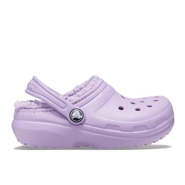 Purple Fur Lined Crocs