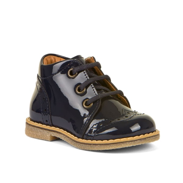 Blue Patent Lace Up Boot Froddo