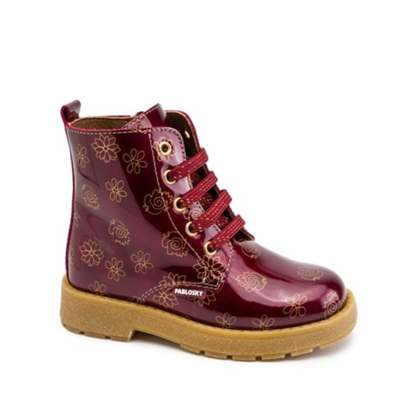 Burgundy Leather Boot Pablosky