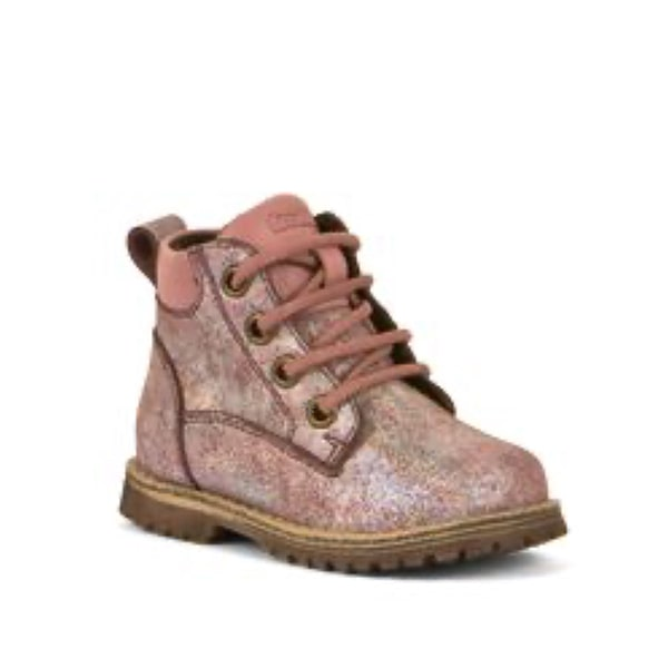 Pink Shine Leather Lace Up Froddo