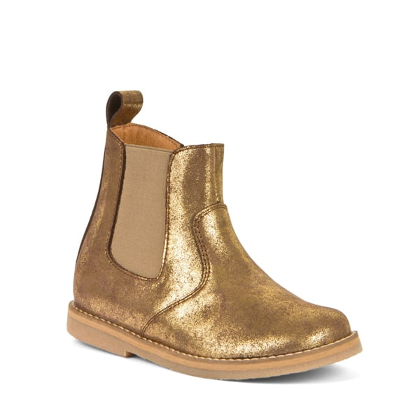 Gold Leather Chelsea Boot Froddo