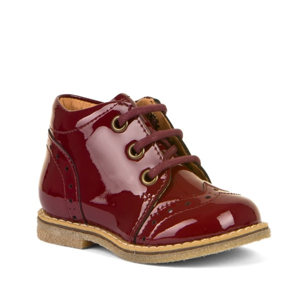Burgundy Patent Lace Up Boot Froddo