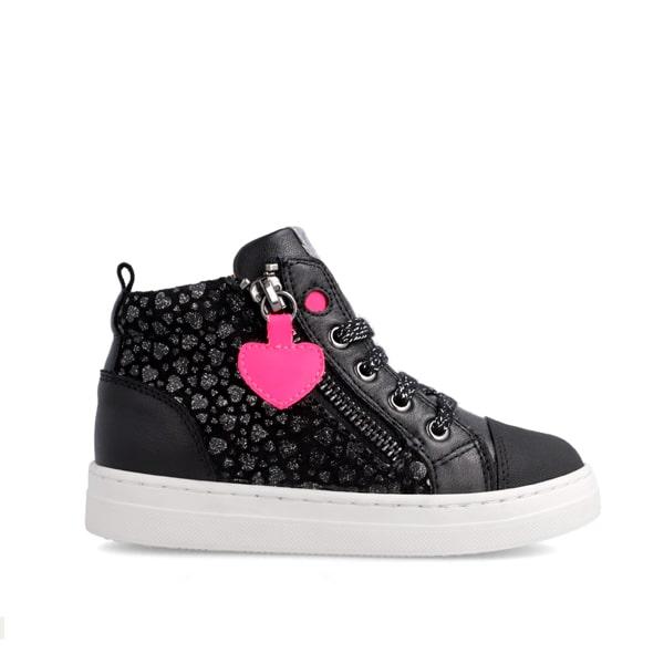 Black/Pink Heart Garvalin