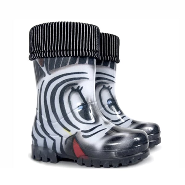 Zebra Wellies