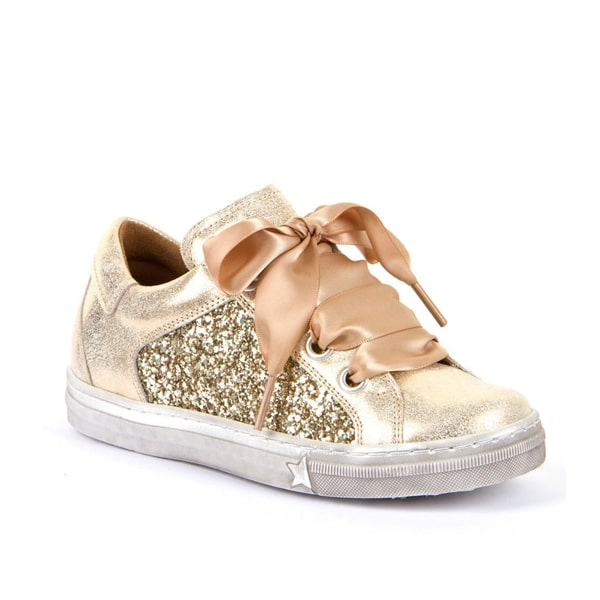 Gold Leather Trainer Froddo