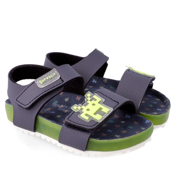 Navy Green Sandals Garvalin