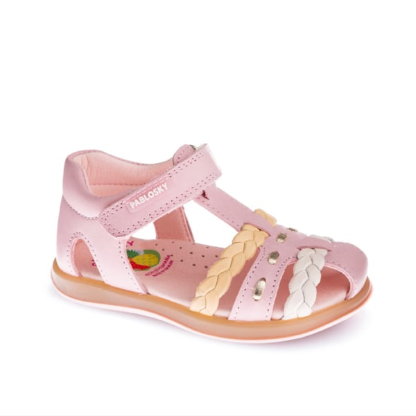 Barbie Pink Closed Toe Sandal Pablosky