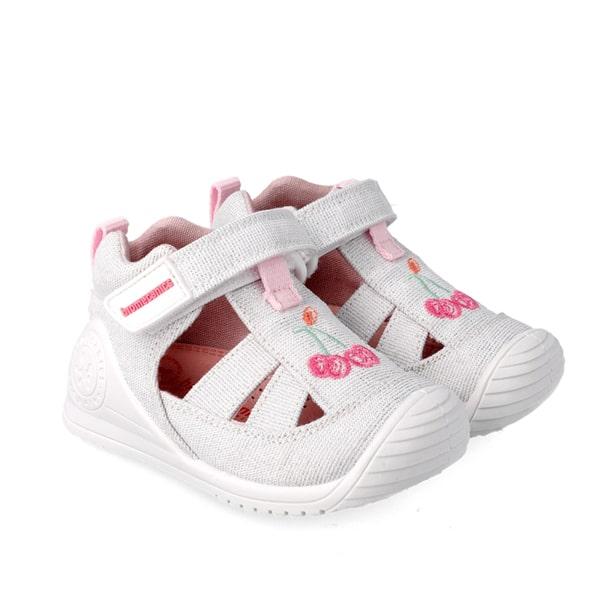 White Cherry Closed Toe Sandal Biomecanics