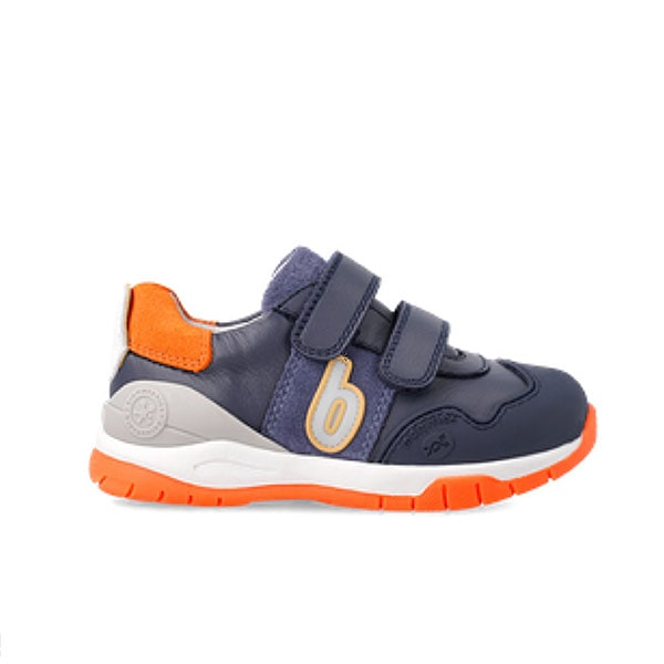 Navy Orange Boys Trainer Biomechanics