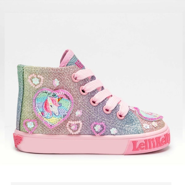 Gem Multi Glitter High Top Lellli Kelly